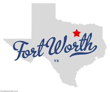 Map of Fort Worth Texas